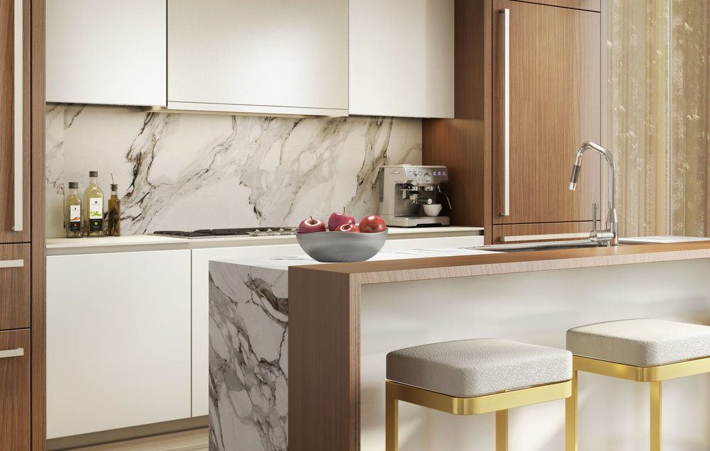 Luxury kitchen at 75 Kenmare Nolita with MEP engineering provided by 2LS
