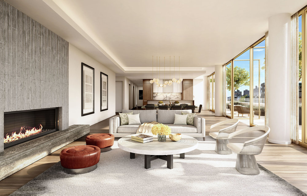 Luxury living room at 75 Kenmare with MEP engineering services provided by 2LS