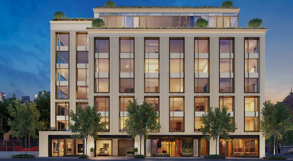 75 Kenmare, luxury residential building rendering with MEP engineering services provided by 2LS