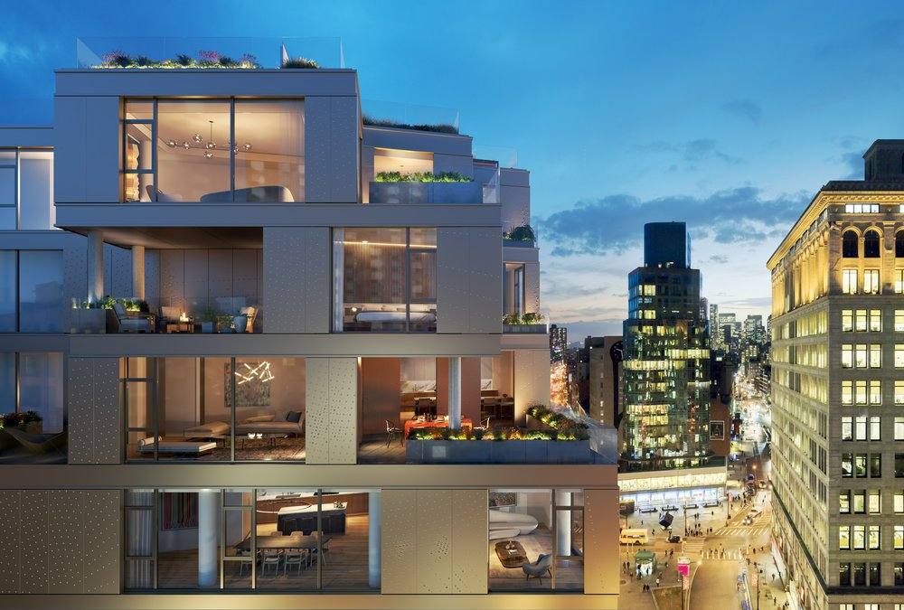 80 East 10th Street Exterior Building with MEP-FP engineering services provided by 2LS