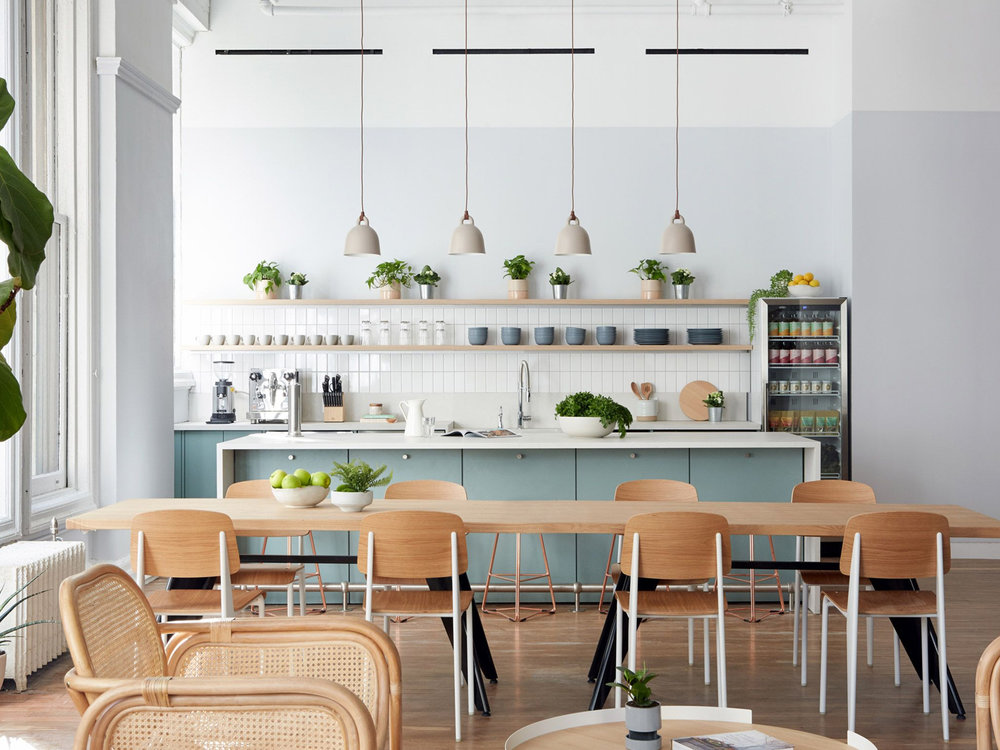 Earthy and homey details feature in New York clinic Parsley Health by Alda Ly - February 12, 2019 | DezeenWhite-wash walls and greenery are intended to create a relaxing atmosphere at this doctor's office and clinic in New York, designed by Alda Ly Architecture …Read More