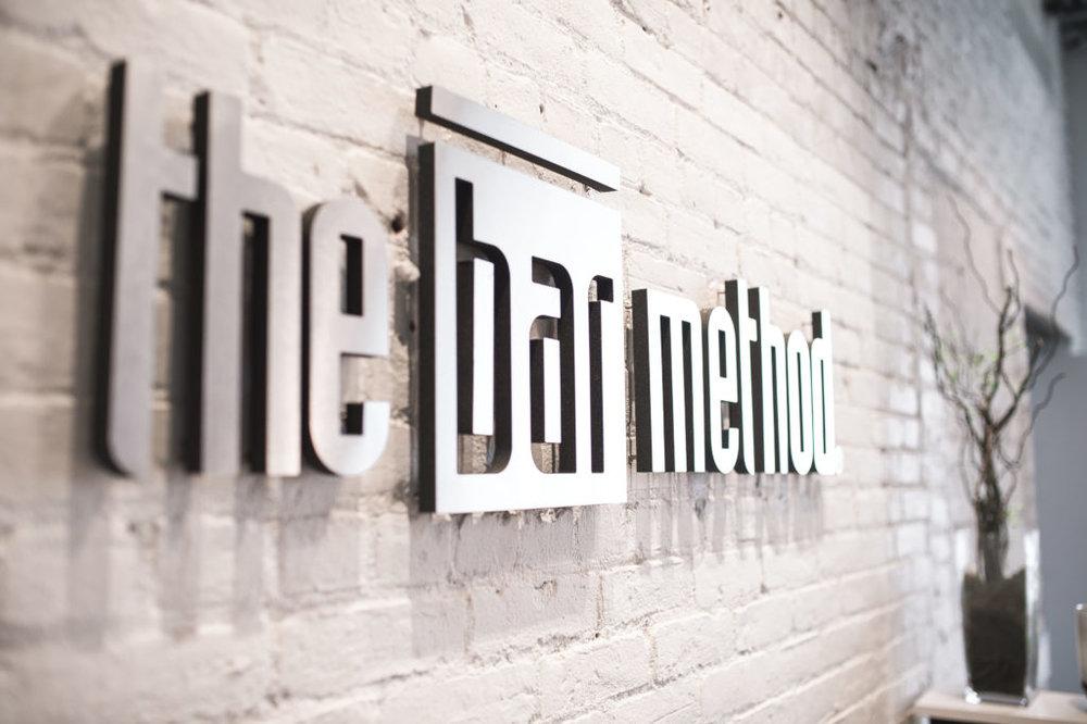 The Bar Method logo at their Williamsburg location