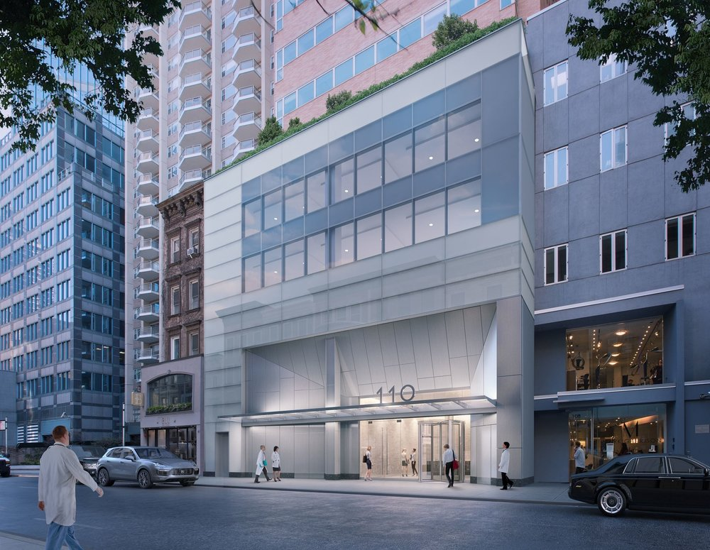Rendering of Park Sixty Medical, located at 110 East 60th Street with MEP engineering provided by 2LS