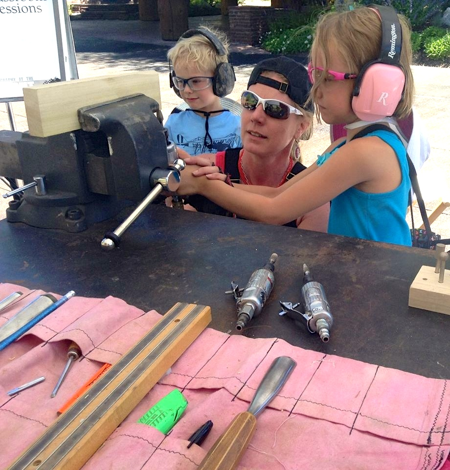 She didn't believe tools were for girls but she left feeling totally different - so fun!!!