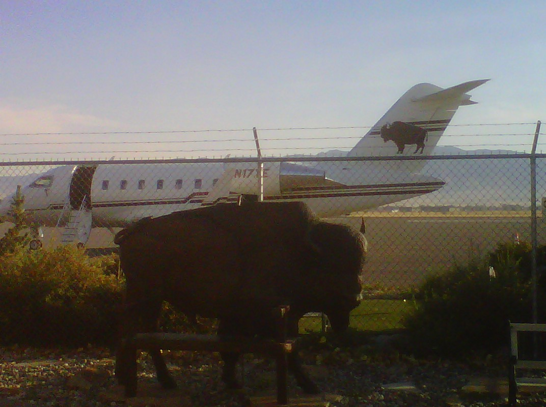 My sculpture and Ted Turner's private jet...a good pair indeed!