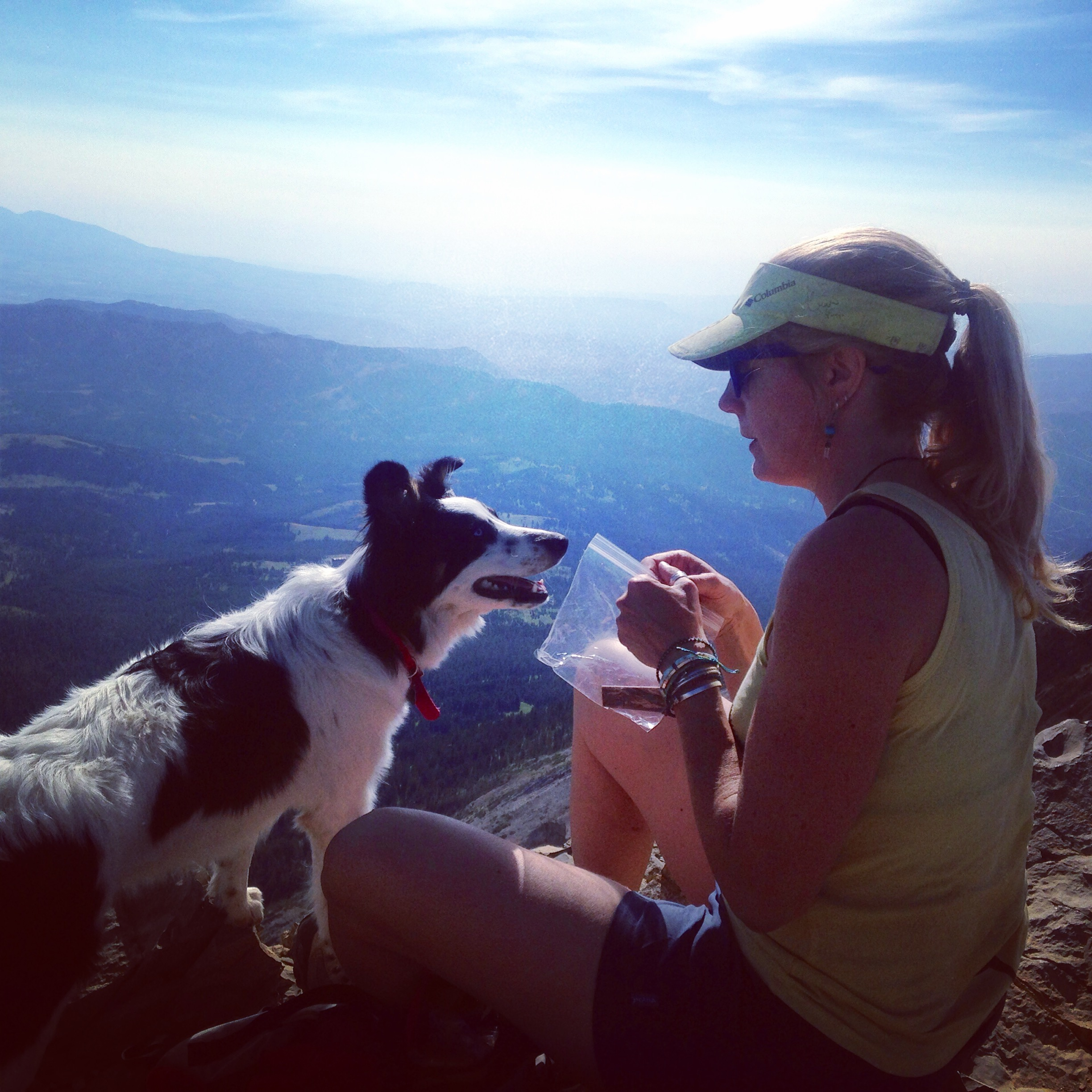 Tala earned a birthday mountaintop treat...