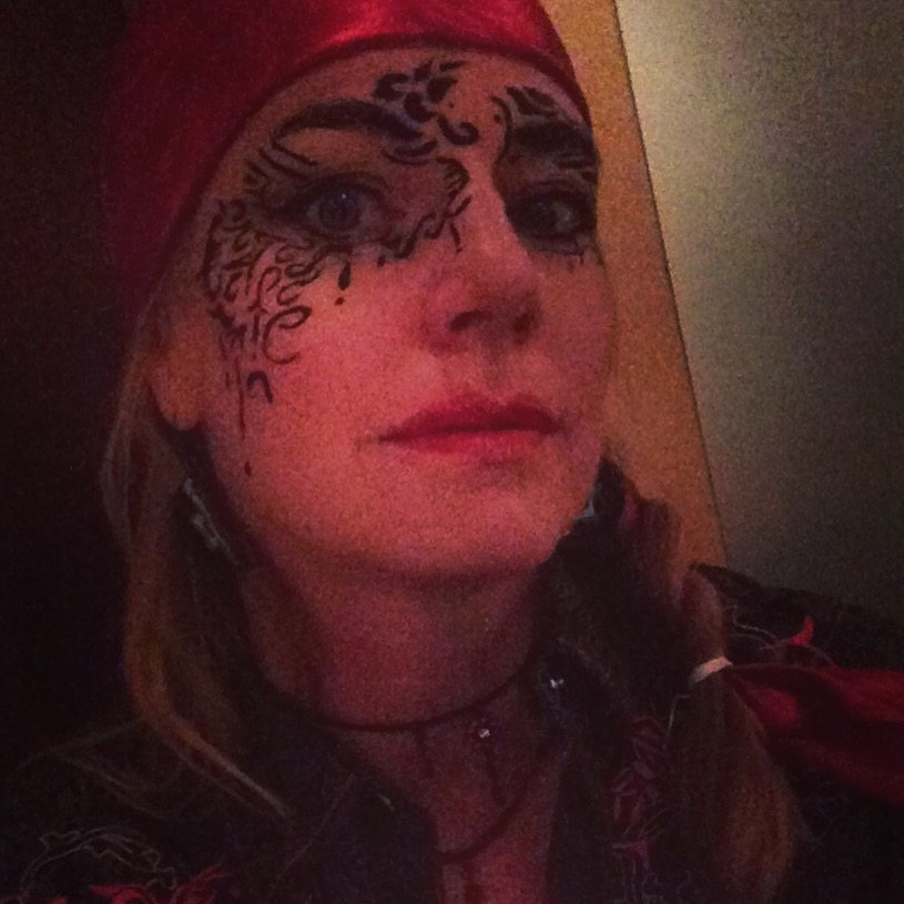 Last day of INKtober - so I doodled on my face...