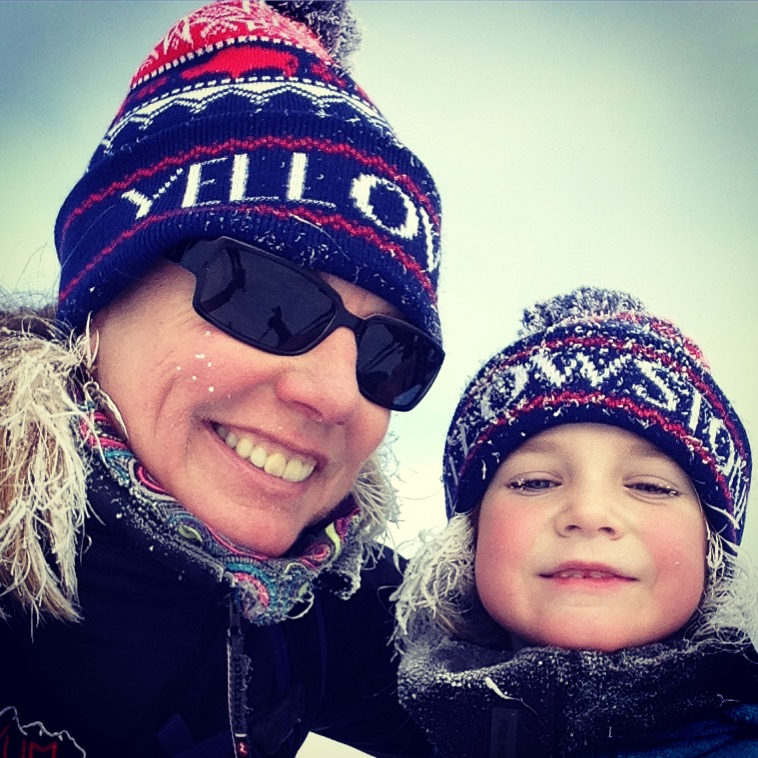 Ski time with my tough (frosty) little niece.