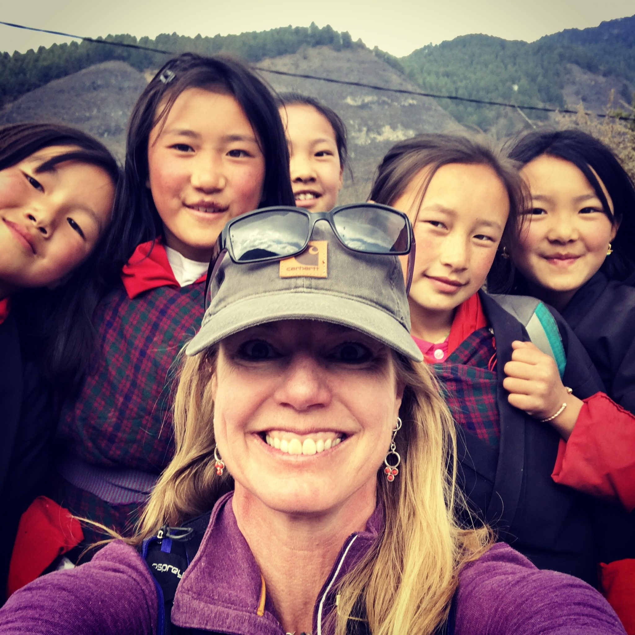 "These little beauties enthusiastically walked me the last 1/2 mile ""home"" to Risum yesterday afternoon. They asked me to sing them a song so I sang ""Puff the Magic Dragon"" - which they said was ""a very beautiful song."""