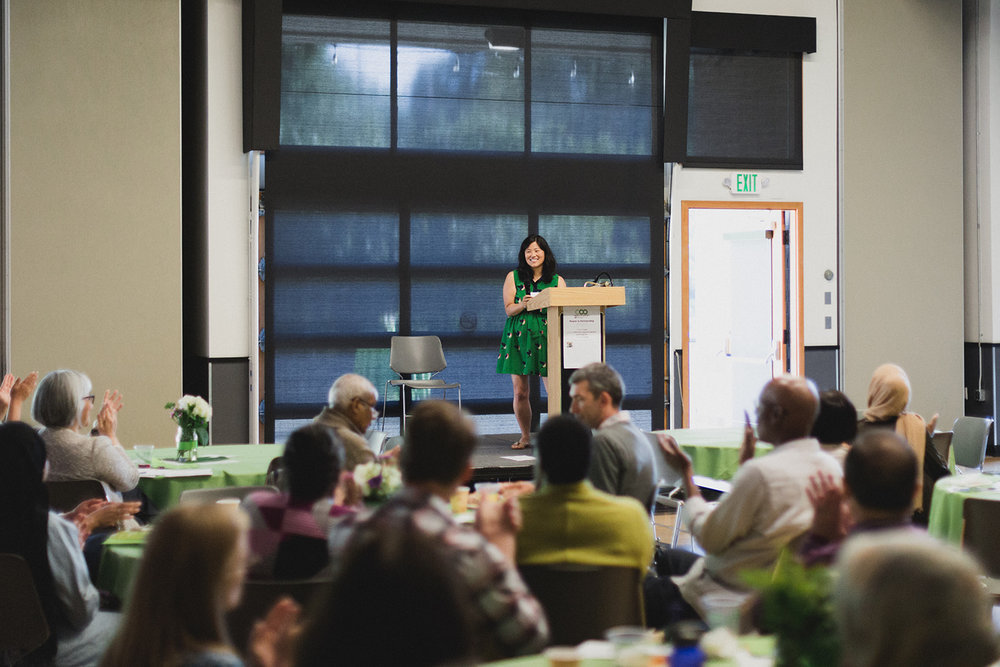 Vivian Yi Huang, Organizing Director for Asian Pacific Environmental Network out of Oakland, delivers a powerful keynote speech.