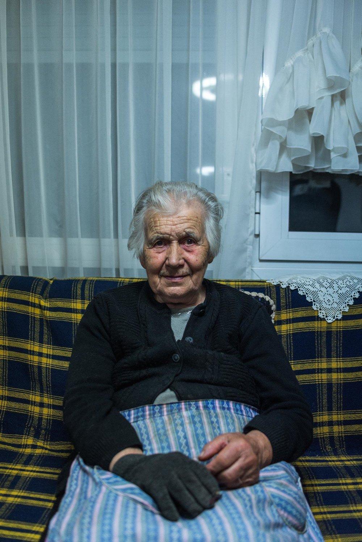Grandma Chrisoula, the brains of the house.
