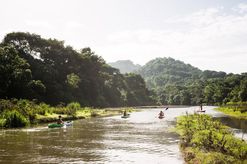 and kayak along the calm waters of the Oro River.