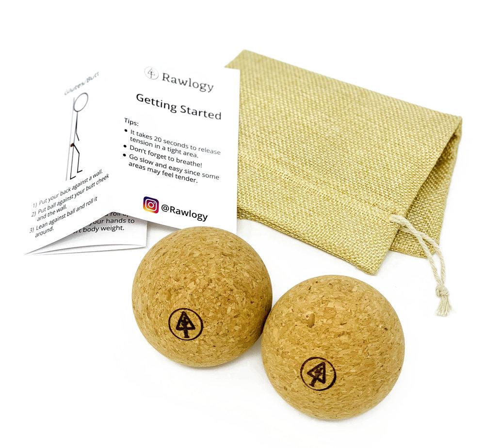 Recycled Cork Massage Balls