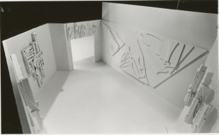 Birds eye view of the maquette.