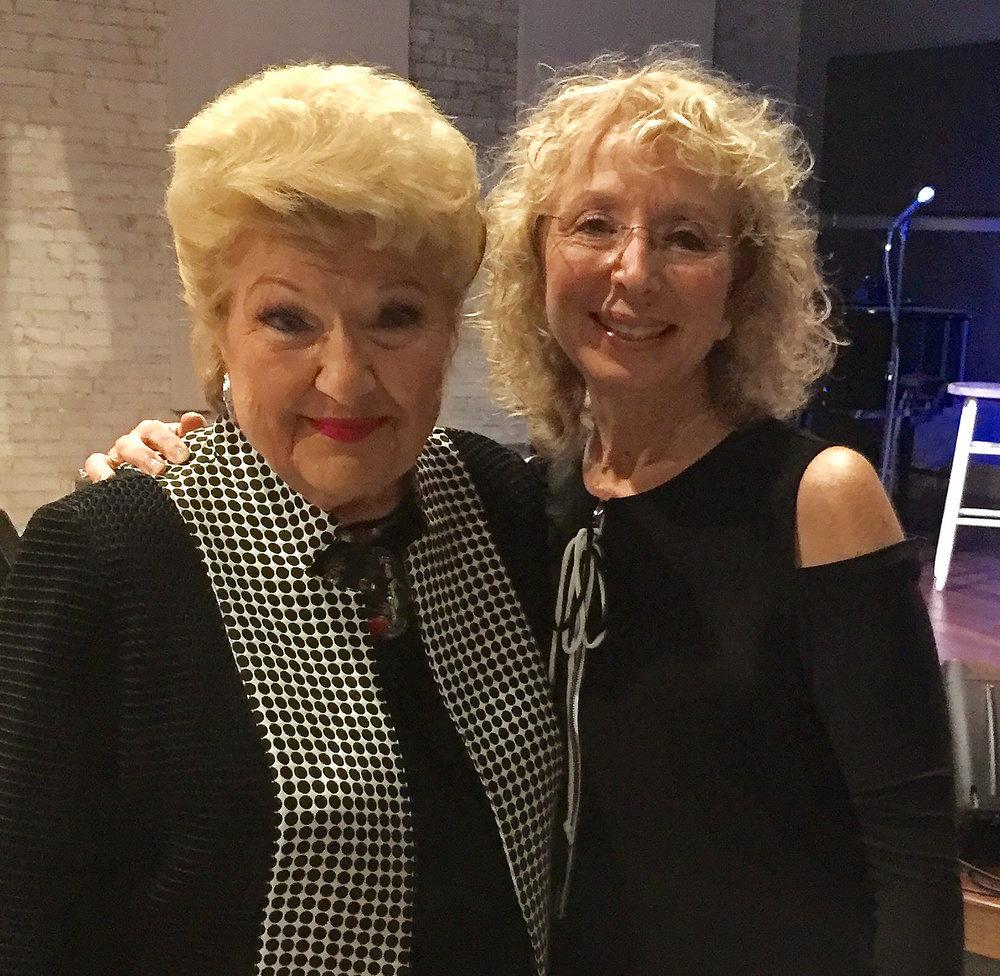 Marilyn Hausfeld (right) with legendary cabaret singer Marilyn Maye