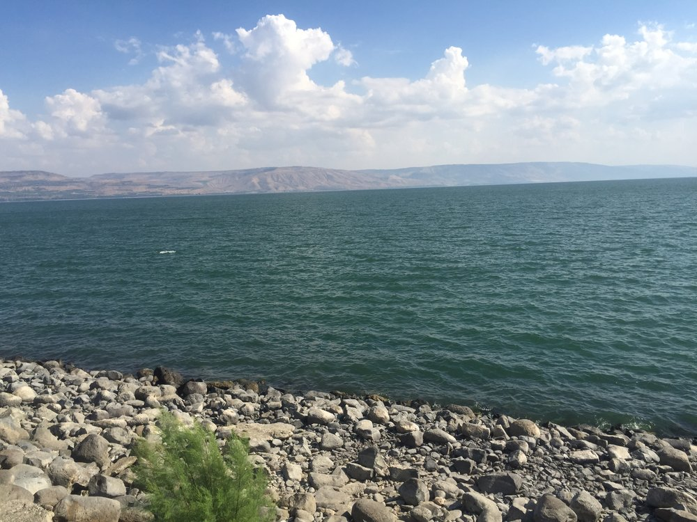 Capernaum rests at the northern edge of the Sea of Galilee.