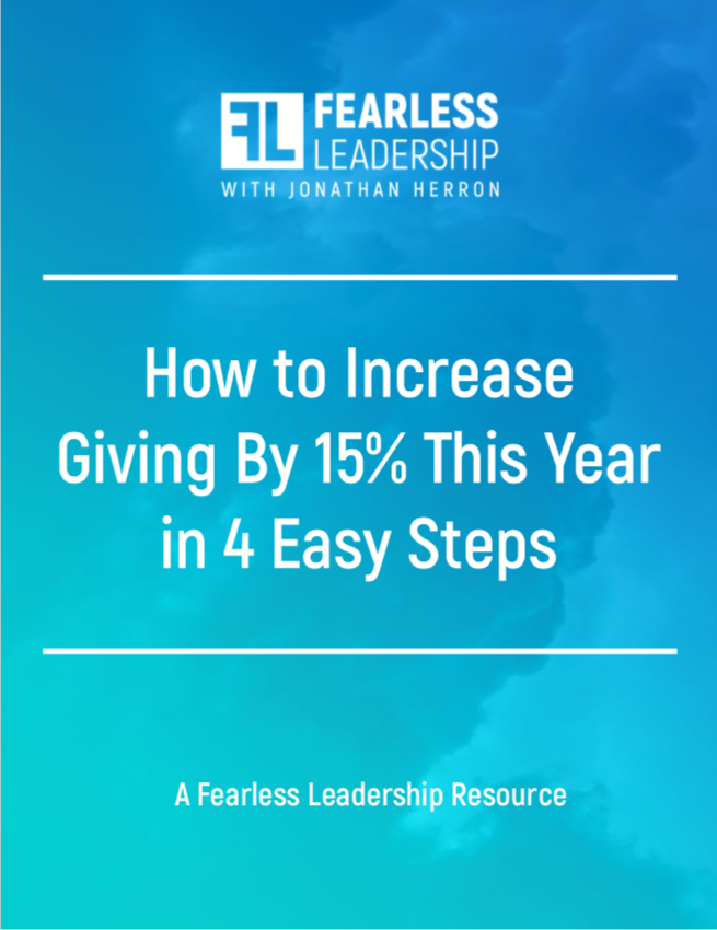 Increase Giving by 15% - A Fearless Leadership E-Book Exclusive