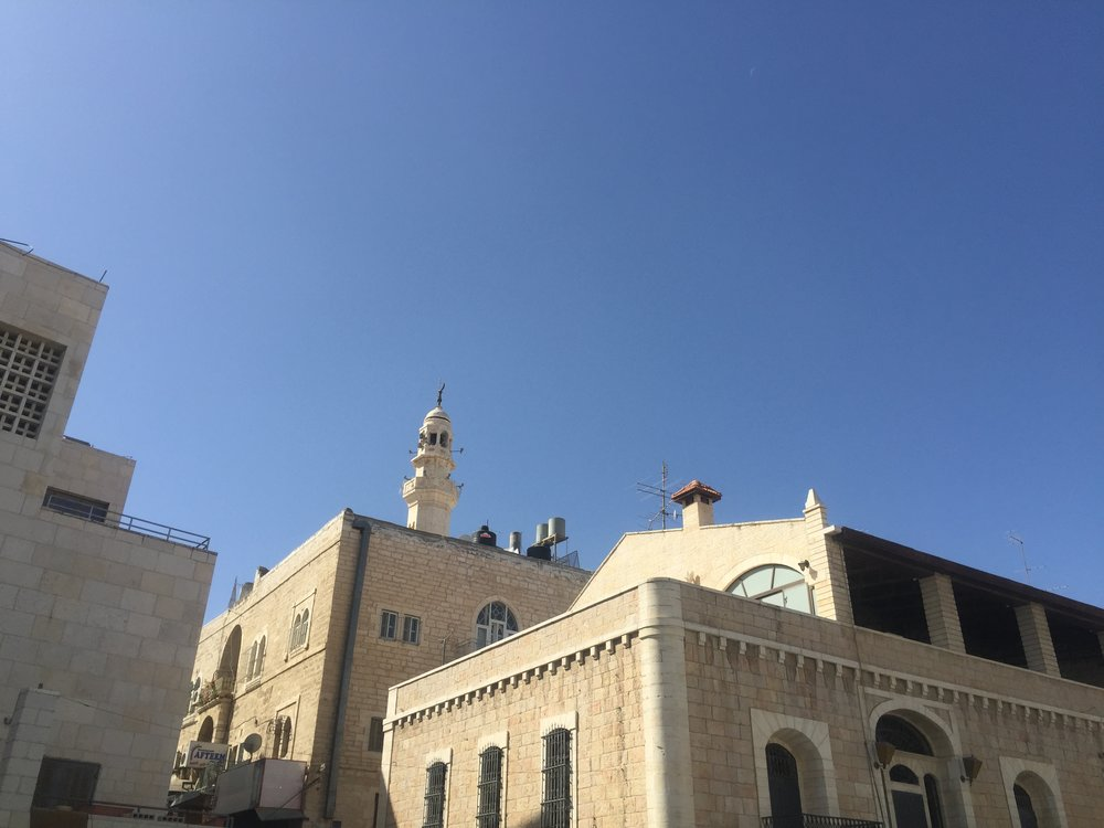 Allah (the Moon god) is the focus of the Crescent Moon atop these Mosques in Bethlehem