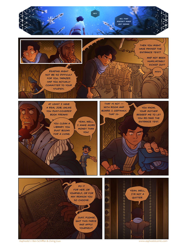 Asphodel - Webcomic series. Illustrations by Zixing Guo.