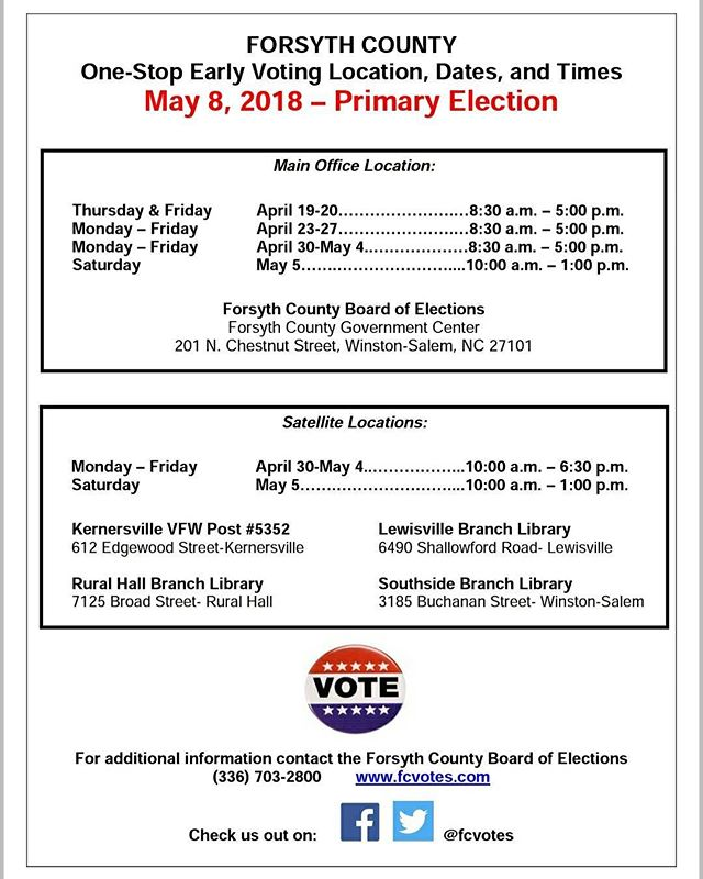 Don't delay. Early voting begins on April 19 - May 5. Every VOTE counts. Let's take over the polls and make sure that we encourage everyone to get out and VOTE.  #KimbroughForSheriff