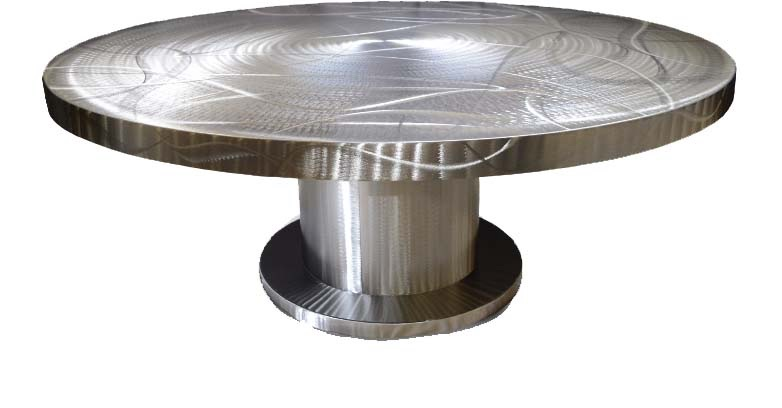 stainless round table.JPG