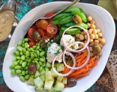 maui vegan food greek salad mala ocean tavern