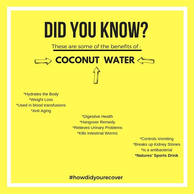 **DID YOU KNOW??** #howdidyourecover . . . . . #liferecoverywater #lifestyle #fitness #coconutwater #hydrate #focus #nutrition #natural #athlete #cleaneating #cardio #organic #healthylife #wellness #health #vegan #eatclean #active