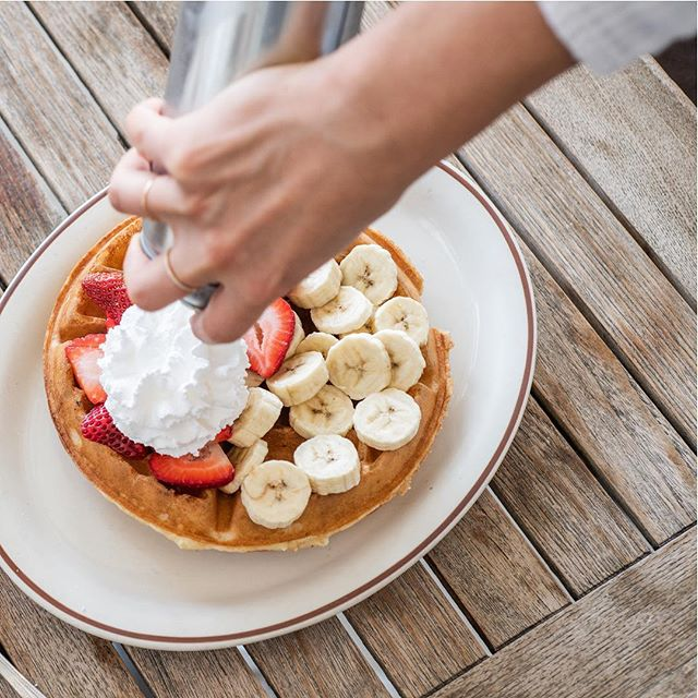 Have you tried our light and crispy Belgium waffle? We have plenty of toppings to choose from....fresh strawberries, bananas, and whipped cream are always a good choice 👌🏼 . . . . . . . #goodfoodgoodcompany #brunch #coffeelove  #belgiumwaffle #lax  #losangeles  #westchester #laeats #foodiela