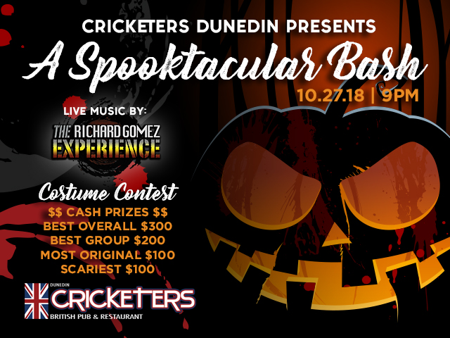 For Contest Rules & Details visit: https://www.cricketerspub.com/spooktacular-bash-2018