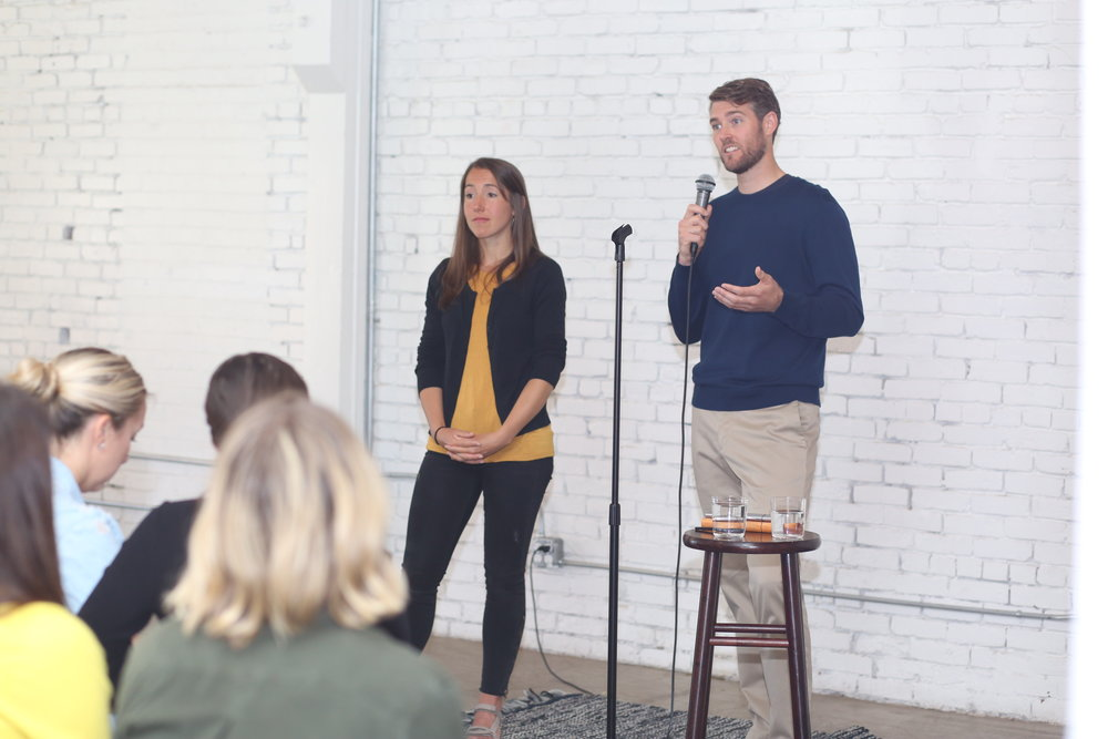 Ryan Kenny + Rena Satre Meloy - Drawing from the renowned Mindfulness-Based Stress Reduction and Pause Meditation's workplace mindfulness curriculum, Ryan and Rena shared how to find balance in daily work routines.Watch the talk HEREORRead a recap HERE