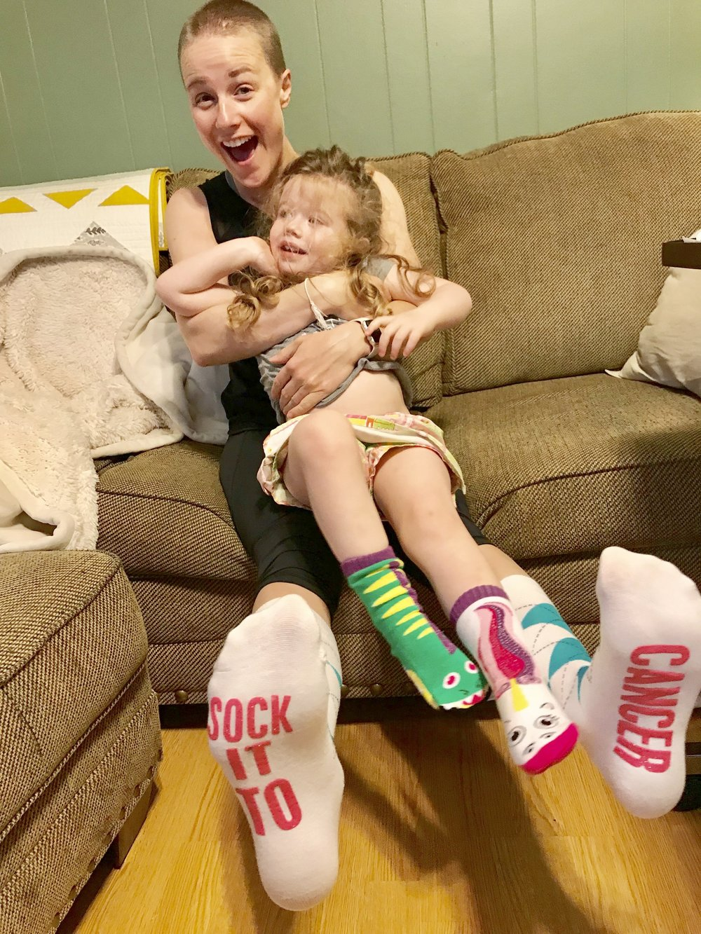 Elin and I received some new socks this week and had fun trying them on!