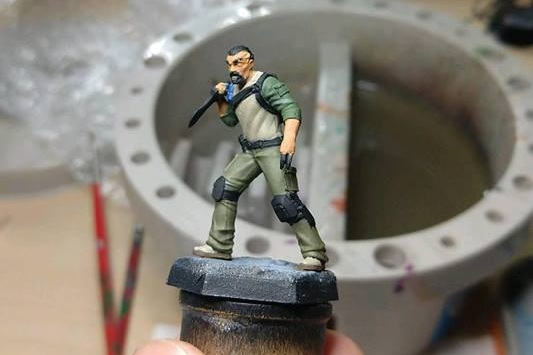 Nix, with several thin base coats. Now it's my turn to bring the details to life.