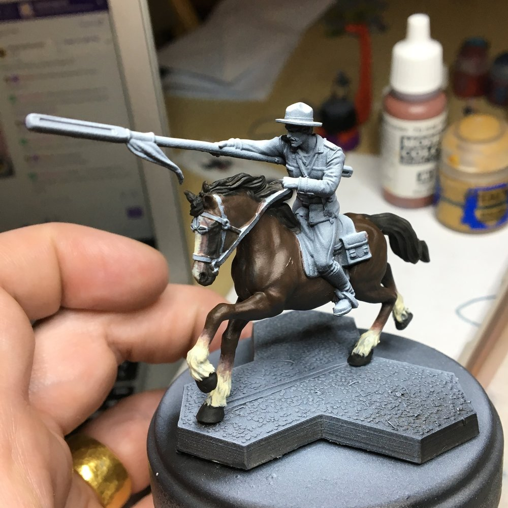 "Lance, after 2 hours of painting his ""base coat"""