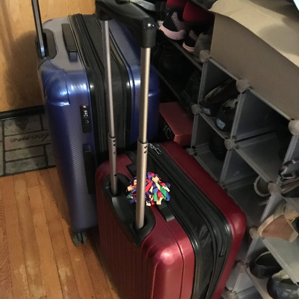 The board barely fit in these 2 suitcases