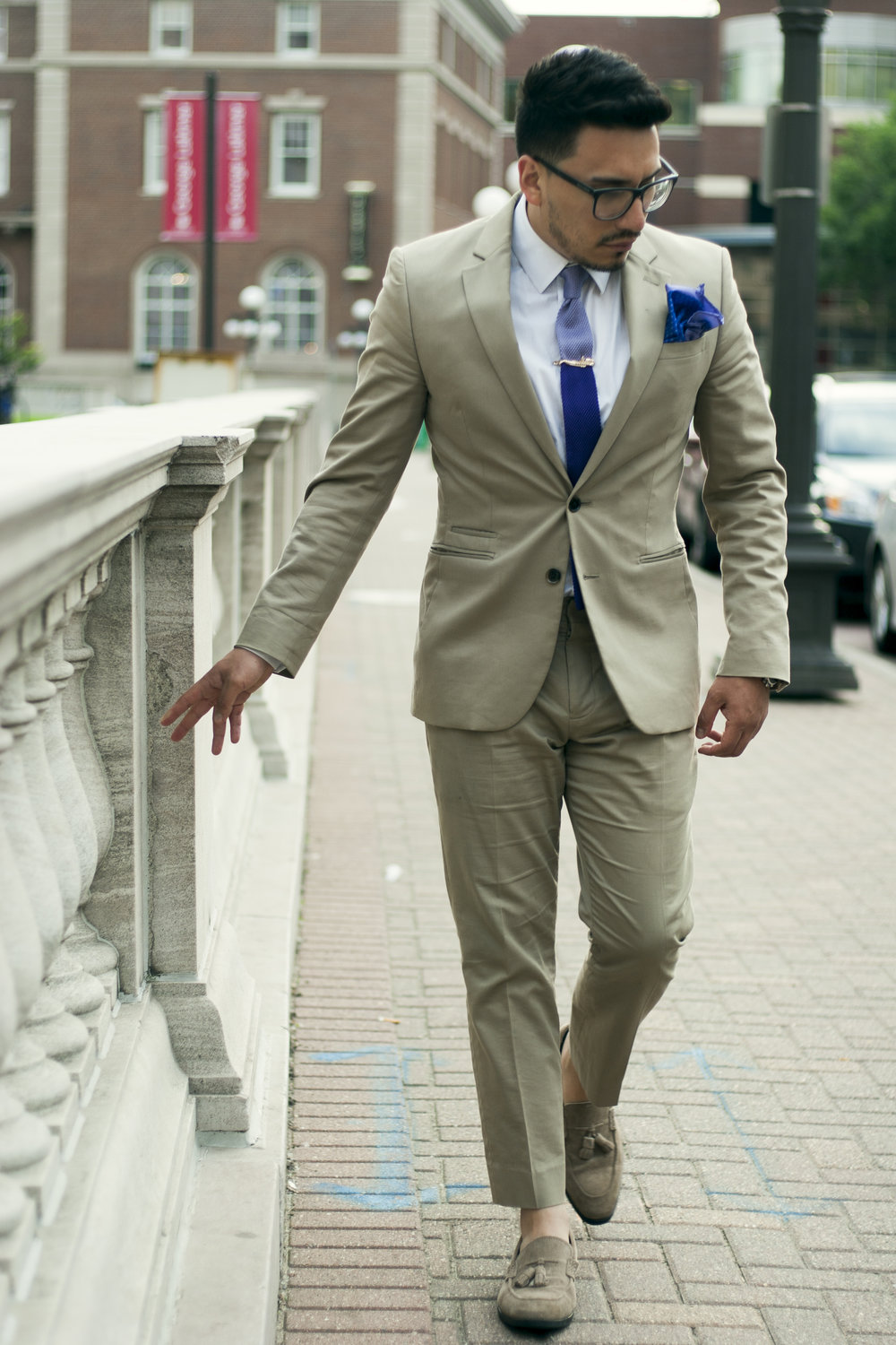 Khaki Suit for summer wedding