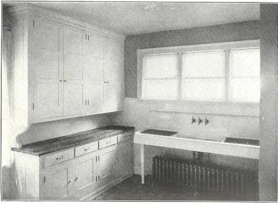 A straight-to-the-point, 1920's kitchen.