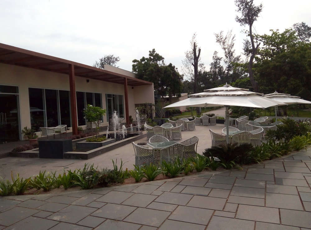The restaurant at the hotel. This is where you must come for breakfast, lunch, and dinner