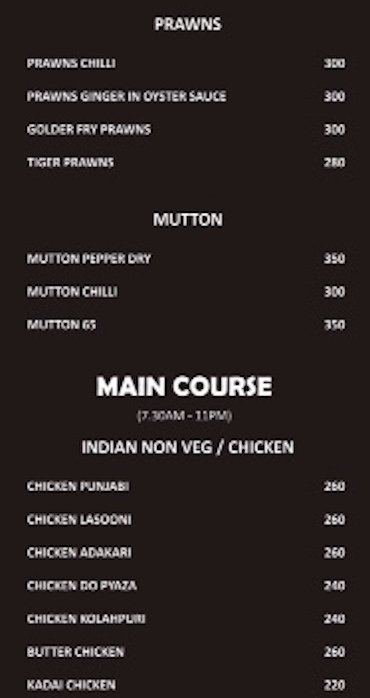 Food Menu 6 | NH7 Refuel | PritishSocial Blog