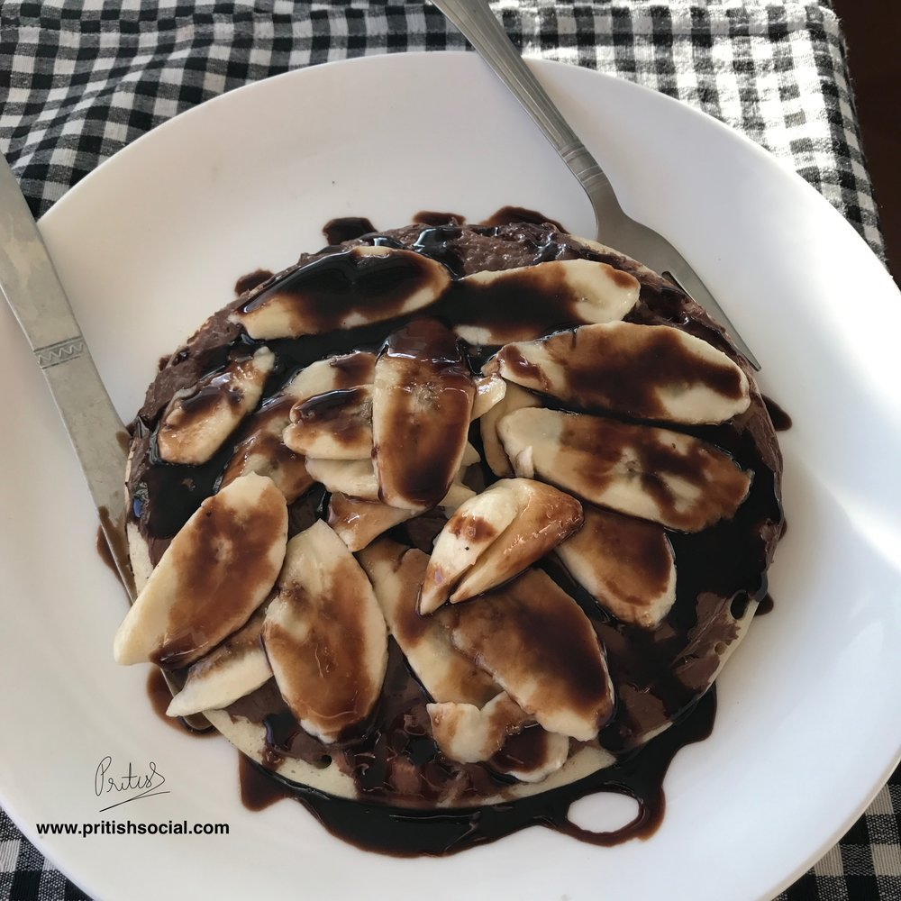 Garden Cafe Choco Banana Crêpes | Bir Billing Himachal Pradesh | Travel Photo Blogger | PritishSocial