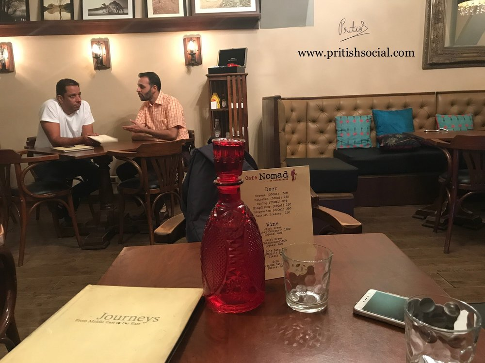 Café Nomad Chandigarh | Best Middle Eastern Restaurant 1 |Sector 7 | Food Blog | PritishSocial