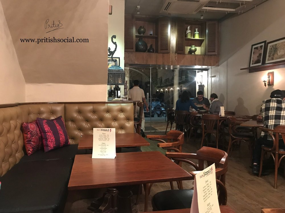 Café Nomad Chandigarh | Best Middle Eastern Restaurant |Sector 7 | Food Blog | PritishSocial