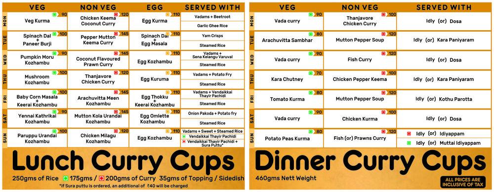 Madras Curry Cup MEnu zomato | PritishSocial