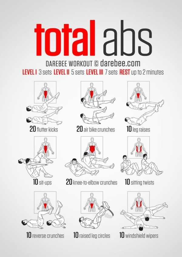 10 Easy Abs Workout To Follow