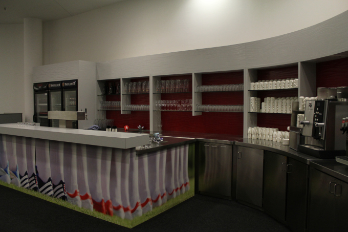 A cafe inside Allianz Arena for the media personnel. Good food and service is offered so that they write good about the home team