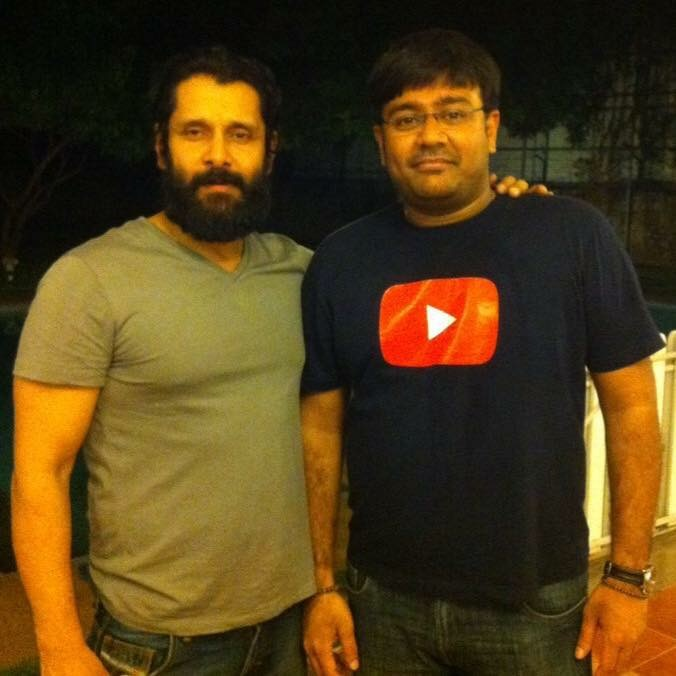 With Actor Vikram