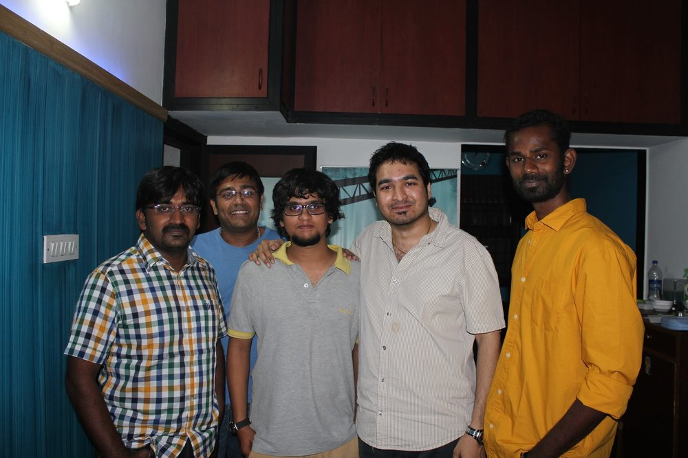PritishSocial with Music Director K and Tamil Actors.JPG