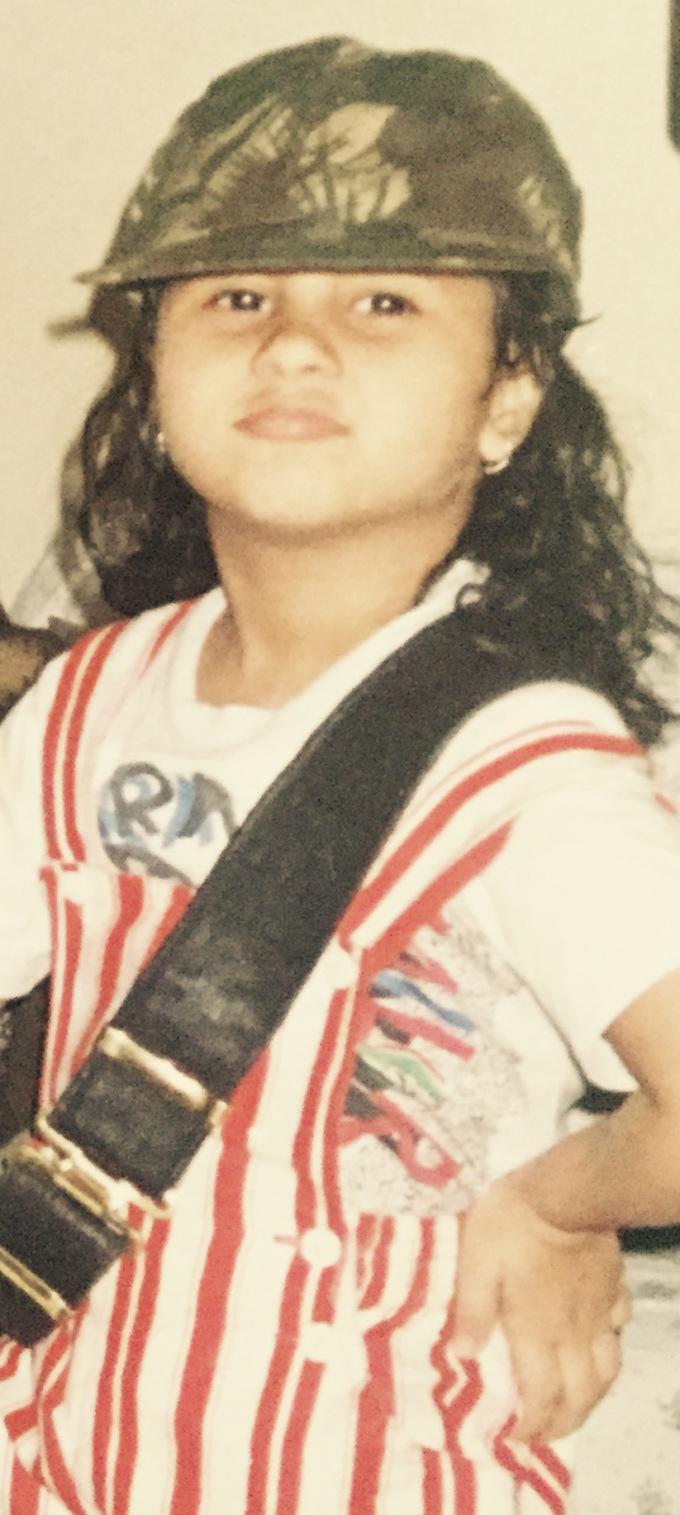 Nikhita Gandhi in her childhood days