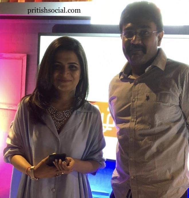 With Dhivya Dharshini - Host and Actress
