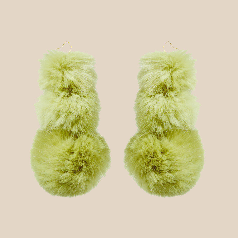Pistachio Puss Puss Earrings