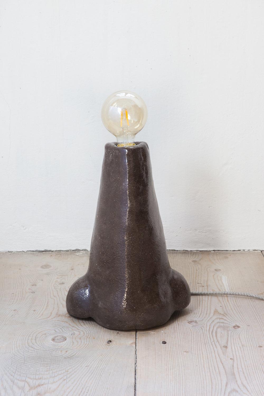 - Nasenlampe 1, 2019Nose Vase - Terracotta, transparent glaze37 x 27 x 15.5 cm (15 x 11 x 6.1 in)
